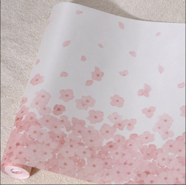 new hot pink classic romantic cherry blossom wall paper Sweet bedroom South Korea rural non-woven wallpaper flower children's nokia 6700 classic illuvial pink киев