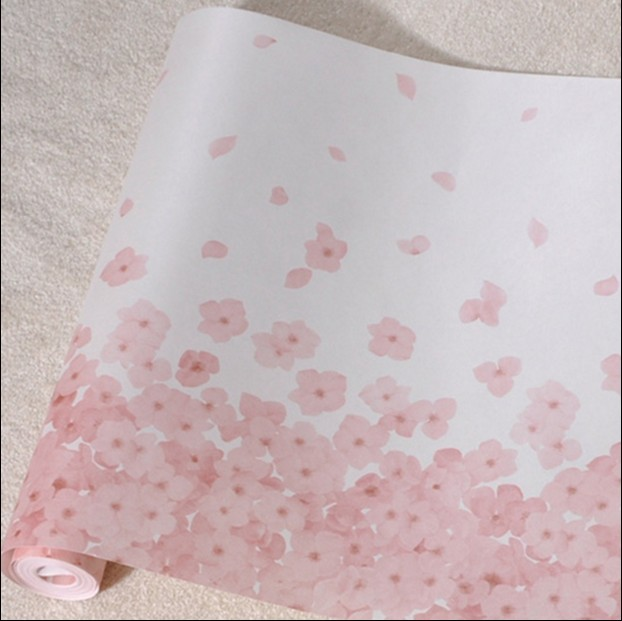 New Hot Pink Clic Cherry Blossom Wall Paper Sweet Bedroom South Korea Rural Non