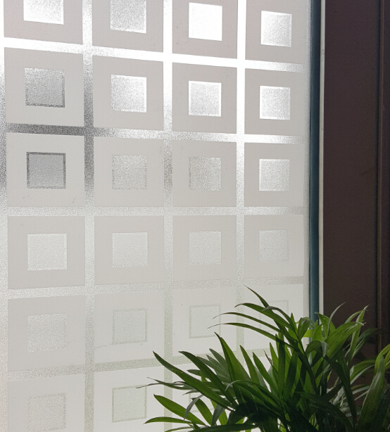 Charmant Opaque Privacy Static Cling Glass Window Film Embossing UV Block Sliding  Door Glass Case Bedroom