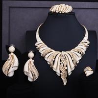GODKI 92mm Super Luxury Twist Half Of Bowknot Full Micro Cubic Zirconia Women Wedding Dress Choker Necklace Earring Jewelry Set