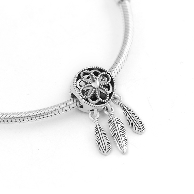 Aliexpress com : Buy Fits For Pandora Charms Bracelets Spiritual Dream  Catcher Beads 100% 925 Sterling Silver Jewelry Free Shipping from Reliable