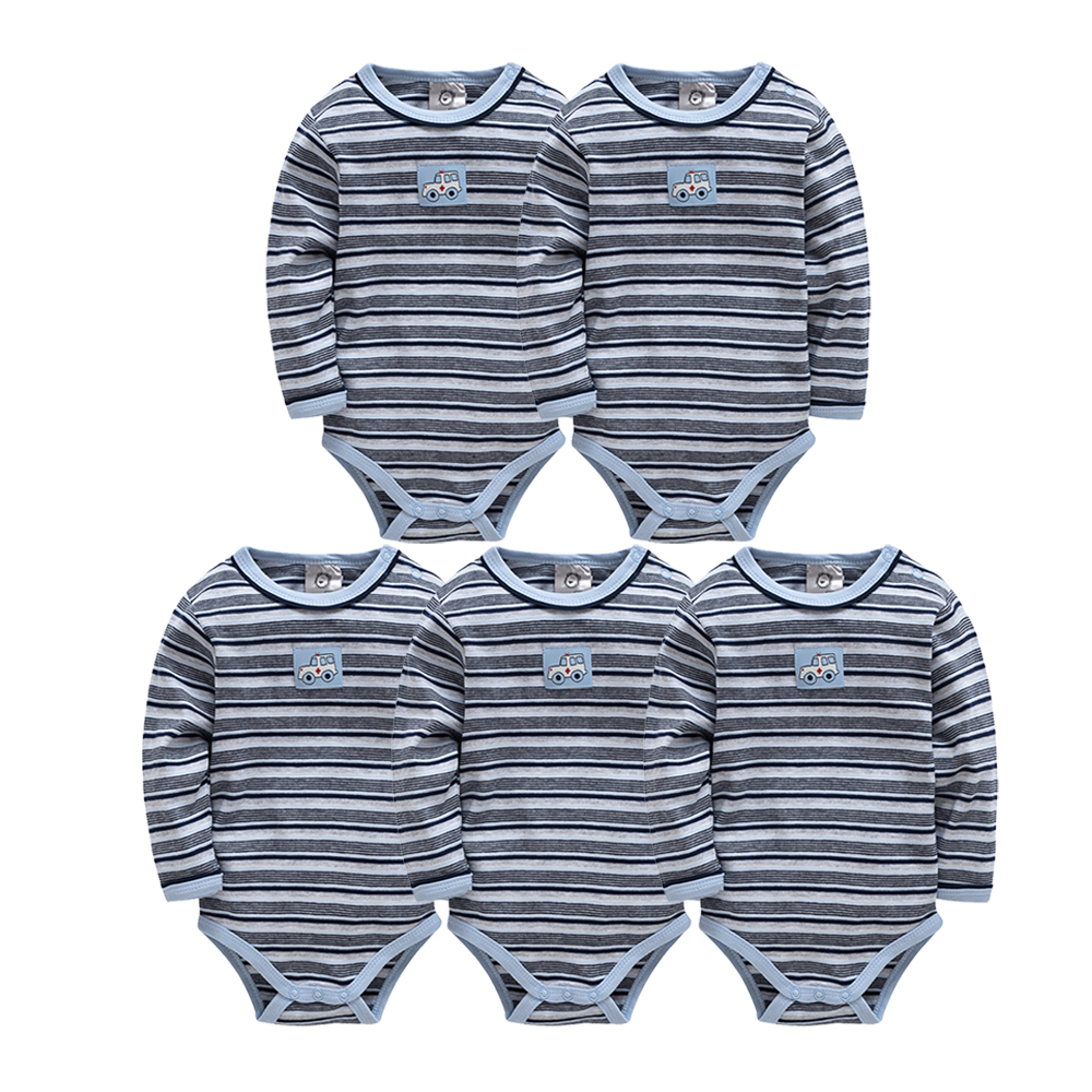 Baby   Rompers   Cotton Newborn Body Autumn Winter Boy Long Sleeve Striped Color Baby Clothing Set