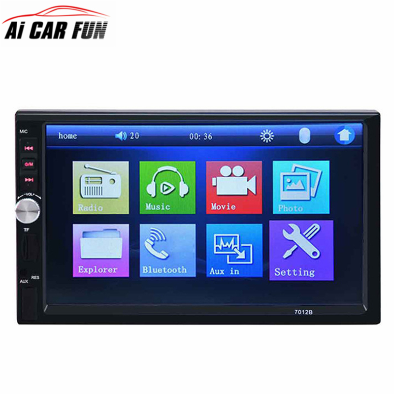 7012B 2 Din 7 inch HD In Dash Touch Screen Car Stereo MP5 Player Bluetooth Car MP5 Player Support FM/MP5/USB/AUX Car Radio Tuner in dash car gps mp5 player with 7 hd 2 din touch screen bluetooth steering wheel control support tf usb aux fm radio 7021g