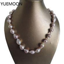 Жемчужное ожерелье и браслет из 100% натурального пресноводного