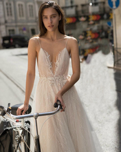 Verngo Tulle Evening Dress  Spaghetti Strap Gown V-neck Formal Custom Size Dresses Party