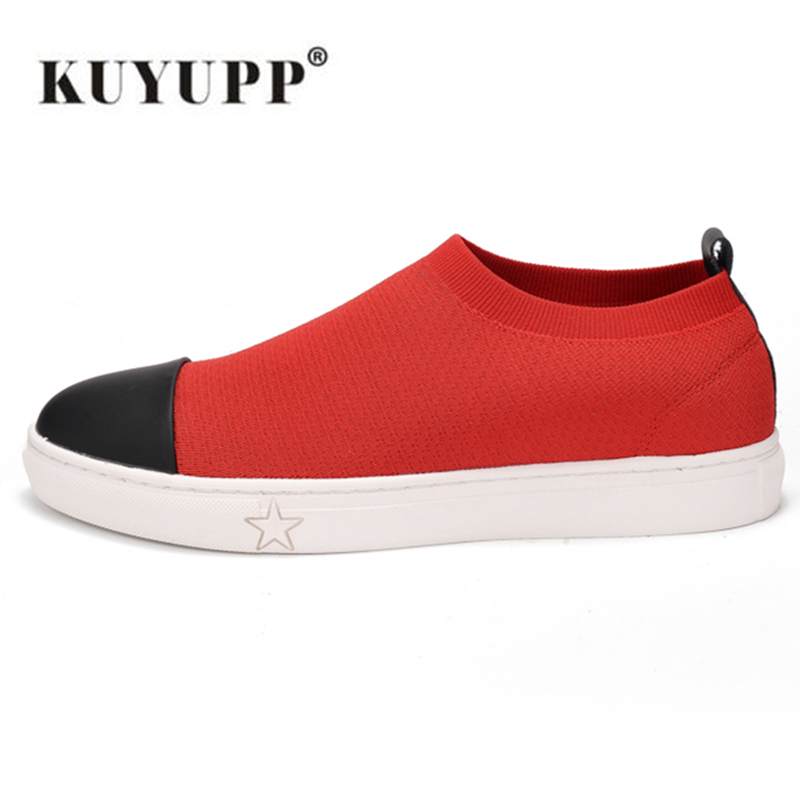 ФОТО KUYUPP New 2017 Summer Knitting Men Shoes lightweight Sport Causal Shoes for Men Breathable Outdoor Knit Mesh Shoes Y183
