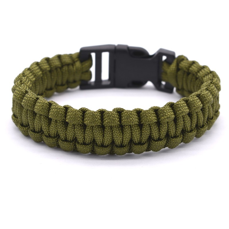 Outdoor Travel Camping Thin Army Green Braided Cobra Weave