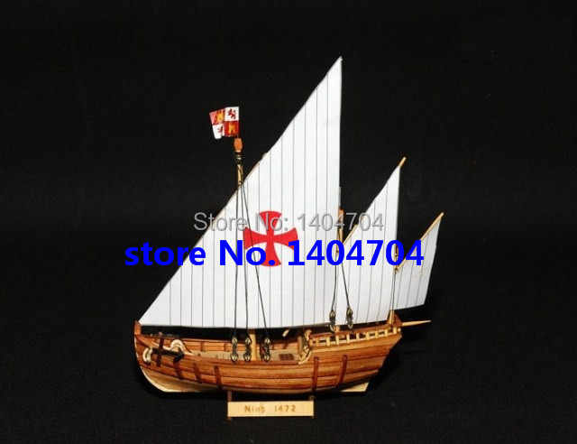NIDALE Model Sacel 1/150 Columbus sail boat model Kit  Nina 1792 Ship model Assembly kit Free shipping