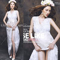 White Lace Maternity Photography Props Dresses Elegant Fancy Pregnancy Clothes For Pregnant Women Photo Shoot Long SleeveleDress