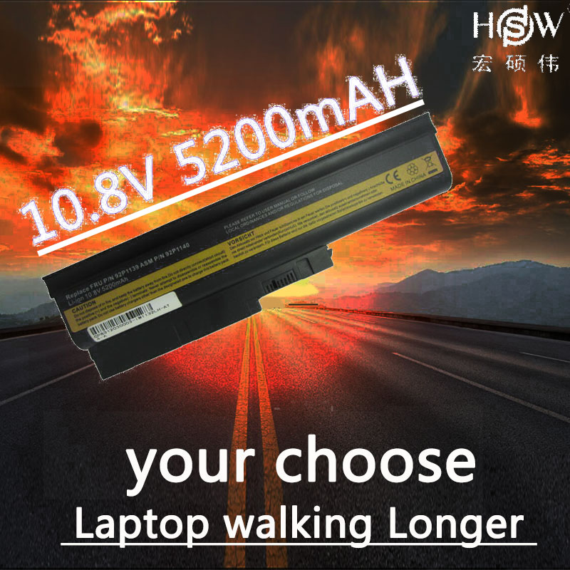 HSW Laptop Battery for IBM ThinkPad Lenovo T60 R60 Z60 R500 T500 SL400 SL500 92P1133 42T4619 92P1138 42T5246 42T4572 42T4511 клавиатура topon top 100450 для lenovo ibm thinkpad sl300 sl400 sl500 black