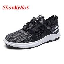 ShowMyHot; Дизайнерские мужские кроссовки; мягкий дышащий светильник; обувь на плоской подошве; Тканевая обувь из дышащего сетчатого материала; лоферы; Deportivas