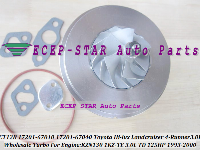 Free Ship Turbo Cartridge CHRA CT12B 17201-67010 17201-67040 For TOYOTA HI-LUX 4 Runner Prado Landcruiser 1KZ-TE KNZ130 3.0L