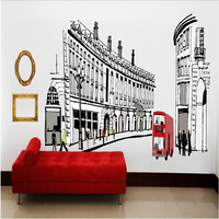 1X Roman Architecture City PVC Removable Room Decal Art DIY Wall Sticker Home Decor Bedroom Wall