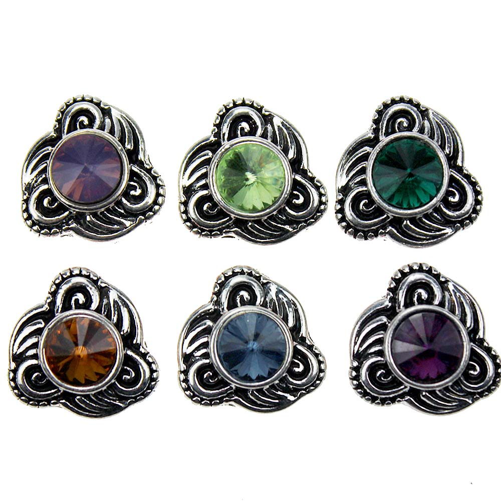 10pcs/lot <font><b>Snap</b></font> <font><b>Jewelry</b></font> <font><b>12MM</b></font> <font><b>Snap</b></font> <font><b>Buttons</b></font> Metal Flower Rhinestone Styles <font><b>Snaps</b></font> Fit DIY <font><b>Snap</b></font> Bracelets Bangles image