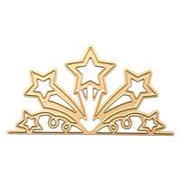 Golden Flower Star Metal Cutting Dies Stencils For Diy Scrapbooking Stamp/photo Album Decor Embossing Diy Paper Cards LQW1935