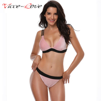 NOWY Micro Bikini Stroje Kąpielowe Kobiety Sexy Złota Aksamitna Dwuczęściowy Bikini Jednolity Strój Kąpielowy dla Kobiet Brazylijski Plażowa Biqiuni