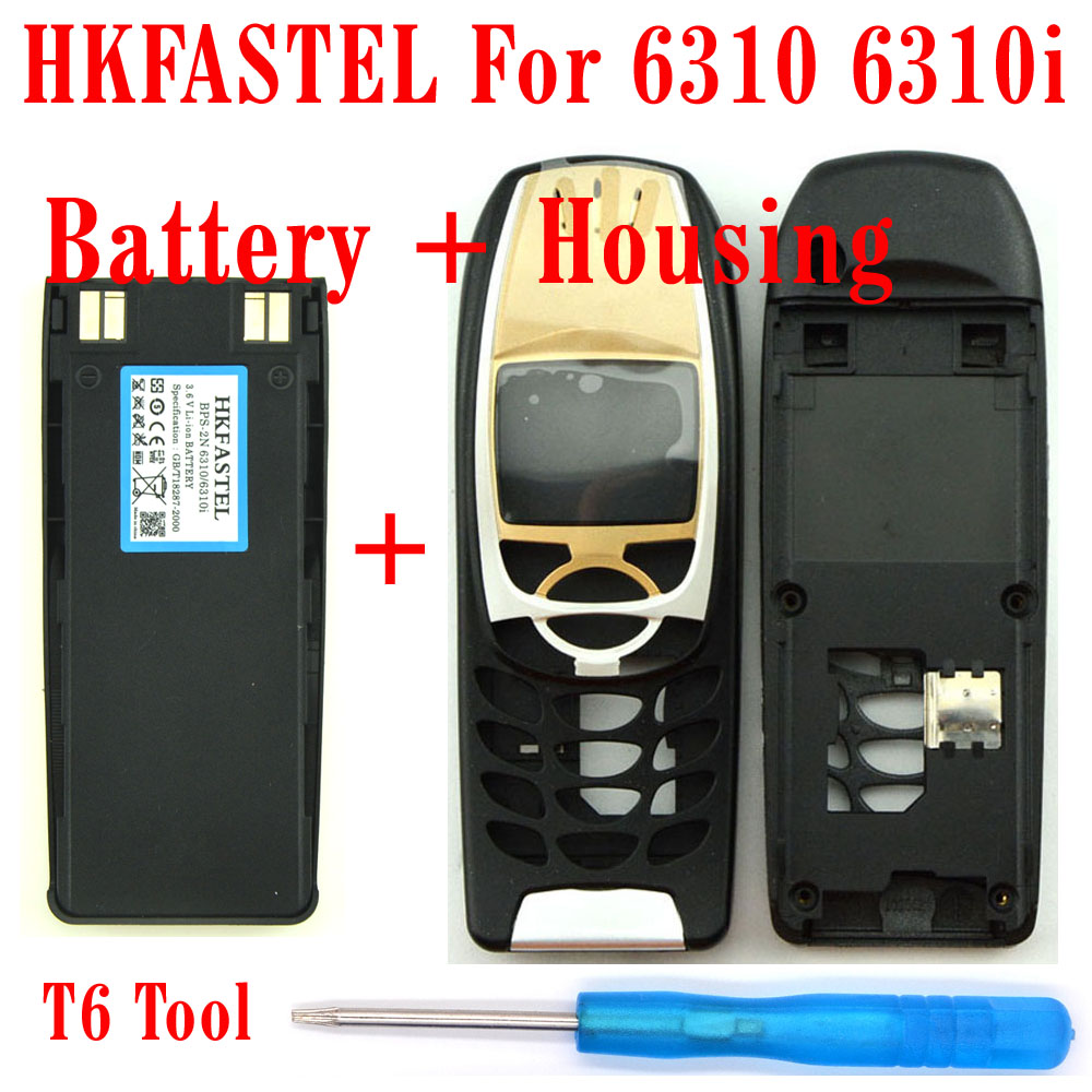 HKFASTEL For <font><b>Nokia</b></font> 6310 <font><b>6310i</b></font> BPS-2N Mobile Phone battery + Black Color housing cover image