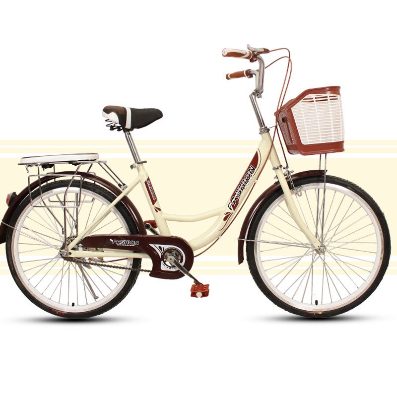 Commuter Bike Lightweight Travel Woman Adult Vintage Retro City Student Man Bicycle Single Speed New image