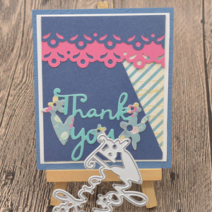 Thank You Letter Metal Cutting Dies Words for Scrapbooking Album Card Making Paper Embossing Die Cuts