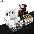 Transparent Desktop Portable Cosmetic Makeup Organzier Transparent Creative Lipstick Skin Care Dresser Storage Boxe 32*19*7.8cm