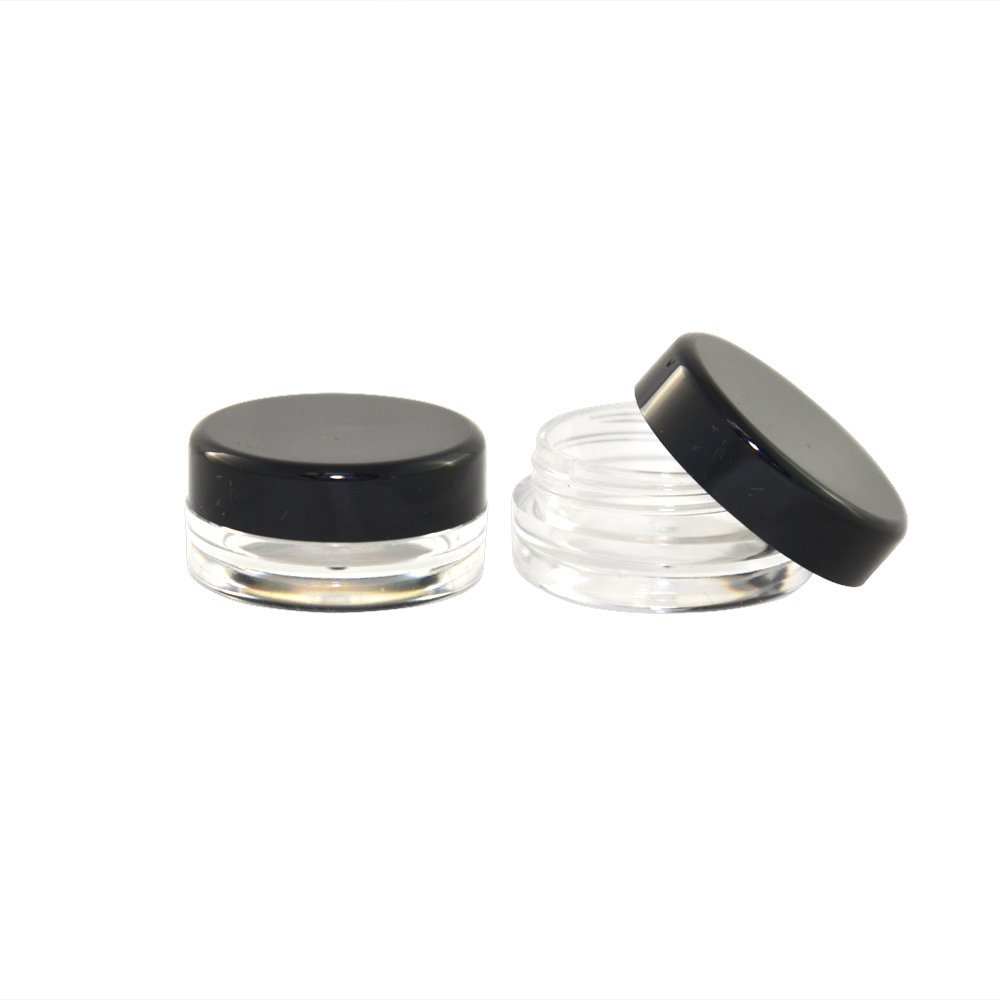 1000pcs  Small Round Bottle Jars,Hard Plastic Nail Art Storage Clear Empty Containers 3ml / 5ml M0654X