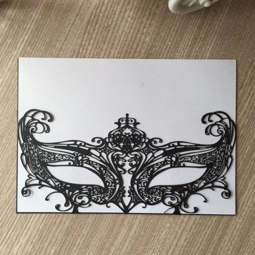 50Psc/Lot Mardi Gras masquerade Mask wedding marriage card party ...