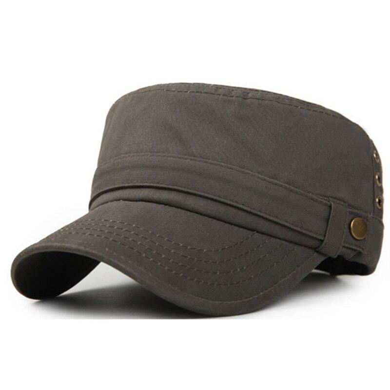 Adultos hombres algodón material superior plana sombrero de verano al aire  libre casual moda retro ajustable f35a3fef0f9