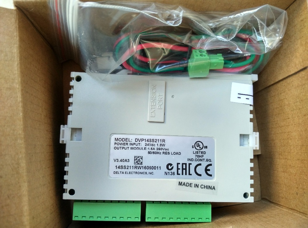 DVP14SS211R Delta SS2 Series Standard PLC DI 8 DO 6 Relay 24VDC new in box fbs 8yr fatek plc 24vdc 8 do relay module new in box