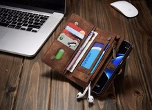 Fashion For samsung galaxy s7 Leather Phone Cases CASEME for samsung galaxy s7 edge Retro Split Leather Multi-slot Wallet Cover