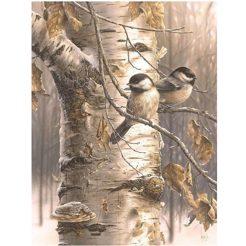 Full Drill Mosaic Completely Home Decorative Painting Rhinestone Diamond Painting Square Diamond Embroidery Autumn birds