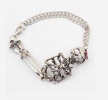 Goth Punk Rock Skeleton Slave Bones Hand Skull Bracelet