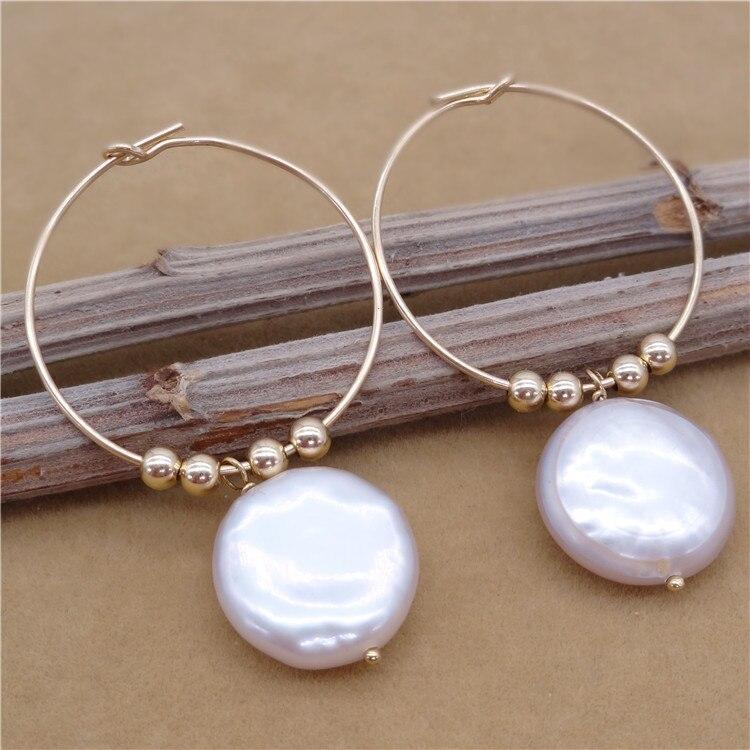 Eternal parola Regalo di cerimonia nuziale Delle Donne 925 Sterling Silver reale La perla naturale orecchini a forma di piatto grande Perla Viola grande orecchio - 2