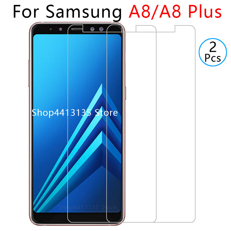 protective glass for samsung a8 plus 2018 tempered glass on galaxy a 8 <font><b>a82018</b></font> a8plus 8a glas screen protector safety tremp case image
