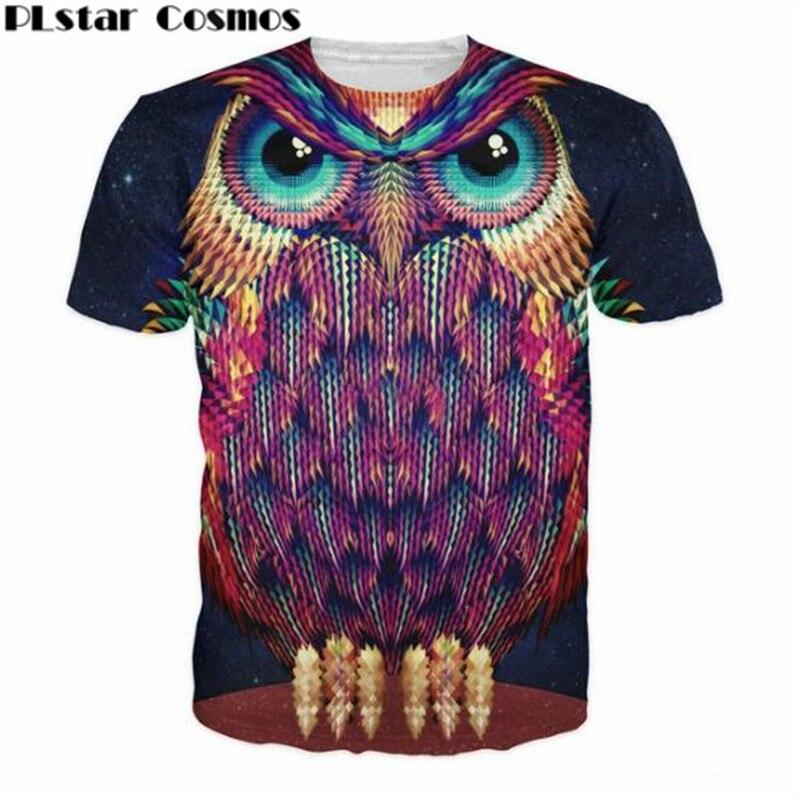 ⃝Plstar Cosmos camiseta del búho una de los bosques criaturas más ...