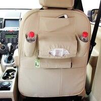 2018 New Multi color Auto Car Seat Back Bag Multi Pocket Storage Bag Organizer Holder Auto Car Accessories Beige for bmw x1 f48