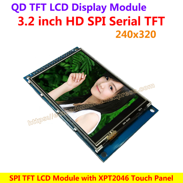 US $18 66 |QD 3 2 inch TFT LCD Drive Demo Board Module with 240*320  Resolution 16bit Parallel Interface XPT2046 Touch Screen Panel-in Demo  Board from