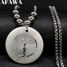2018 Fashion Tree of Life Stainless Steel Sell Necklace Women Silver Color Long Necklaces & Pendants Jewelry collane N18446 цена в Москве и Питере