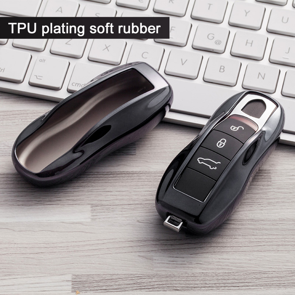TPU Key Fob Case Fit For Porsche Protective Cover for Key Fob,Red