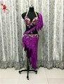 Bellydance indio oriental belly danza gitana traje de baile trajes ropa sujetador cinturón de cadena de anillo bufanda falda dress suit set 041