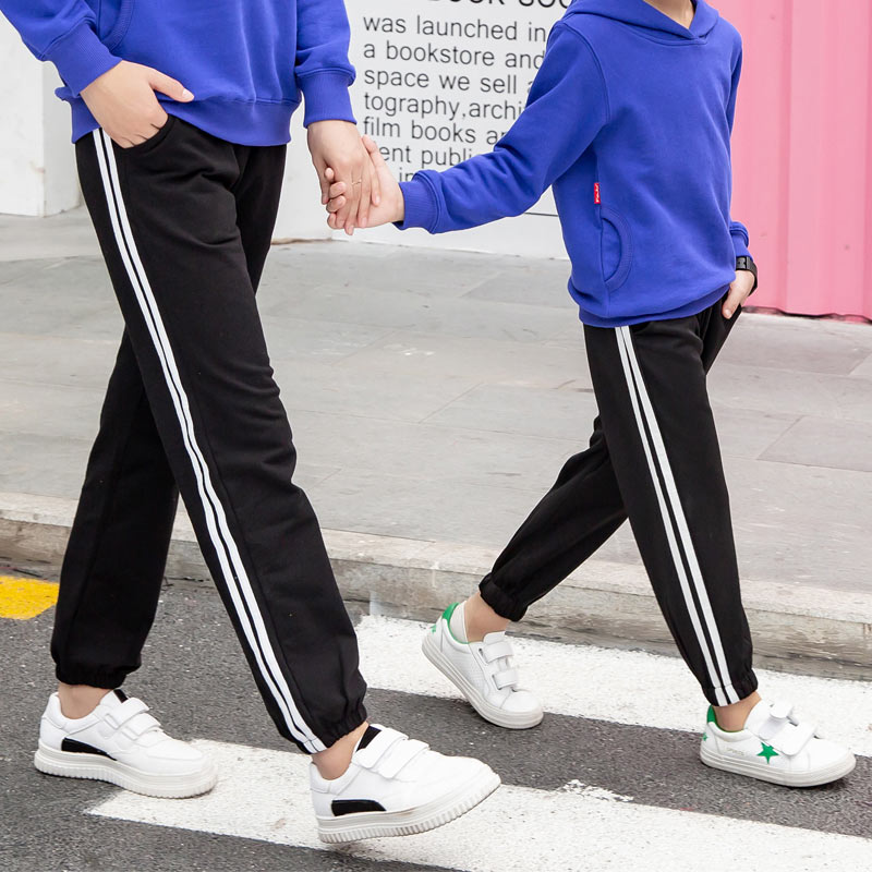 Family Matching Clothes Pants Mother and Daughter Trousers 2019 new spring autumn Elastic Sweatpants Pants father son outfits 3