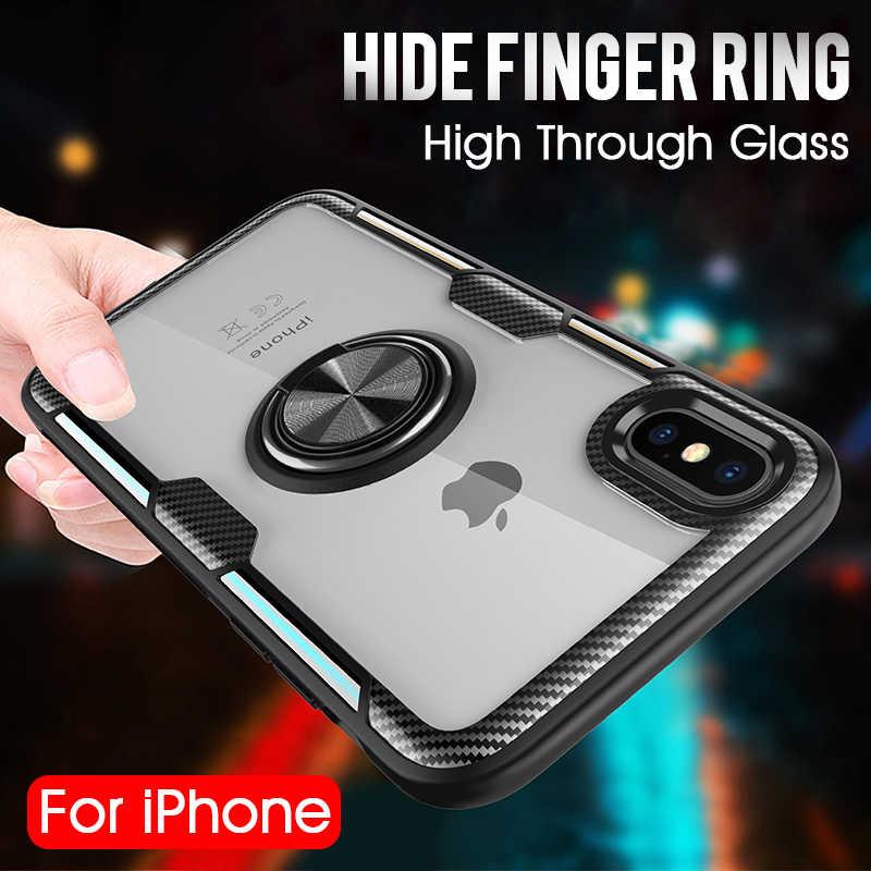 Роскошный автомобильный держатель кольцо чехол на IPhone XS Max XR X чехол для телефона чехол для IPhone XR X XS Max мягкий силиконовый бампер чехол