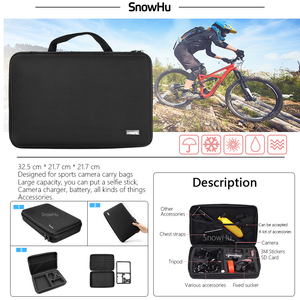 Image 4 - SnowHu For Xiaomi Yi Accessories Set Wateraproof Case Protective Border Frame Chest Belt Mount Monopod For Xiao yi Camera GS56