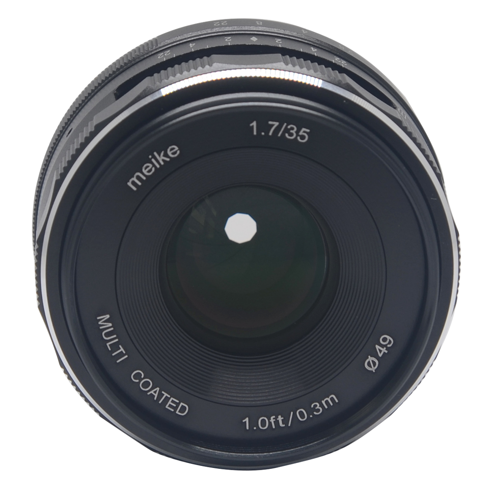 Venidice Meike 35mm f 1.7 Large Aperture Manual Focus lens APS-C For Nikon Mirrorless cameras J1 V1 yongnuo yn 50mm f 1 8 af lens yn50mm aperture auto focus large aperture for nikon dslr camera as af s 50mm 1 8g gift kit