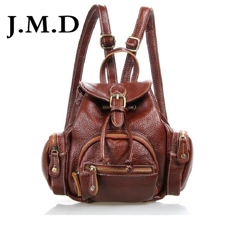 J M D 2017 New High Quality 100 Real Cow Leather Backpack Genuine Excellent Leather Women