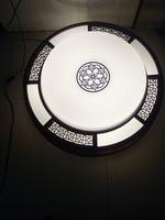 Горячие продаж китайский стиль деревянный традиционное искусство светодиодный потолочный светильник 80 см холодной/теплый белый свет балк