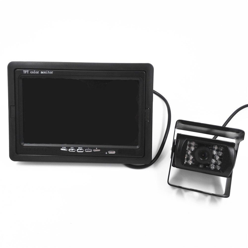 New 18 IR Reverse Camera + 7 LCD Monitor Car Rear View Kit car camera BUS And Truck parking sensor