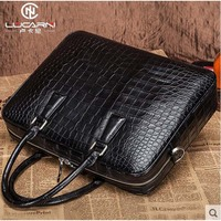 lukani new crocodile belly man handbag men bag briefcase deluxe man bag business bag