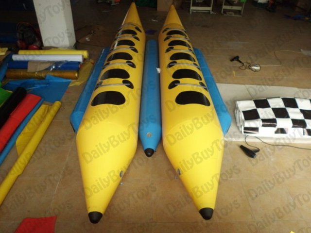 Boat05  Hot Sale Inflatable Banana Boat for 10 person, inflatable water toys  CE Factory Price  100% Quality Guarantee