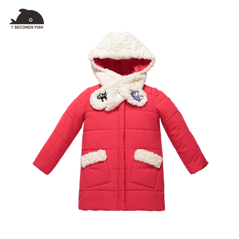 girls winter coat winter jackets girls children winter parka red warm detachable hat Cartoon embroidery 3-12 Cotton-padded new 2017 men winter black jacket parka warm coat with hood mens cotton padded jackets coats jaqueta masculina plus size nswt015