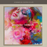 Oil Painting Famous Painter Abstract Art Drawings Colorful Nude Painting Modern Woman Portrait Painting Designer Home
